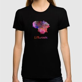 Lithuania in watercolor T-shirt