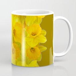 Olive Colored Golden Daffodile Floral Abundance Coffee Mug