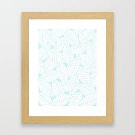 Leaves in Ice Framed Art Print