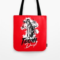 daryl Tote Bags featuring TEAM DARYL by Dr.Söd