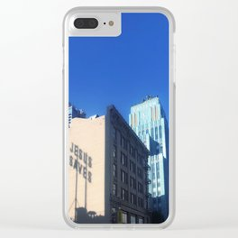 Jesus Saves Clear iPhone Case
