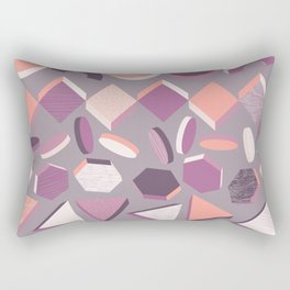 3D Geometry Stand in Line 1 Rectangular Pillow