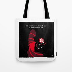 No277-007 My from Russia with love minimal movie poster Tote Bag