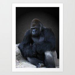 Portrait Of A Male Gorilla Art Print