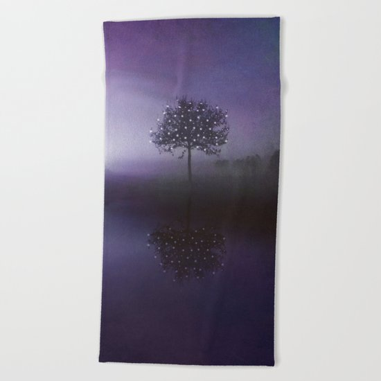 SOLITUDE IN TIME - PURPLE Beach Towel