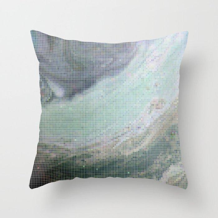 Saturn Infrared Throw Pillow
