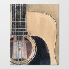 Martin Acoustic Guitar  SSC-D35-14 - from Canada - Watercolor Art Print Canvas Print