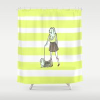 yorkie Shower Curtains featuring Yorkie by miba