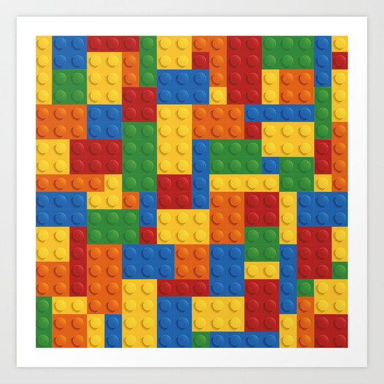 Lego bricks Art Print