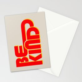 BE KIND - bright typography Stationery Cards