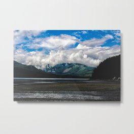 Clouds on the Hill Metal Print