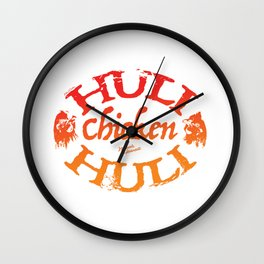 Huli Huli Chicken. Maui, Hawaii Wall Clock