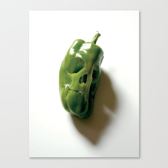 87. Bell Pepper Skull Canvas Print