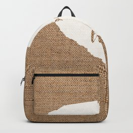 South Carolina is Home - White on Burlap Backpack