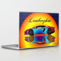 lamborghini Laptop & iPad Skins featuring Lamborghini Aventador by JT Digital Art