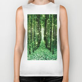 Magical Forest Green Elegance Biker Tank