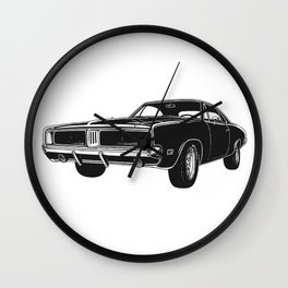 Charger Muscle Car Wall Clock