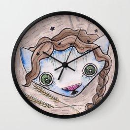 """Oro?"" Virgo Wall Clock"