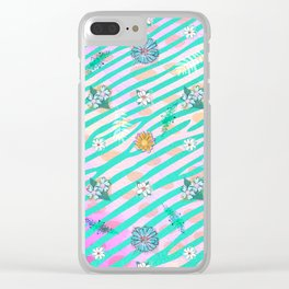 Millennial Floral Clear iPhone Case