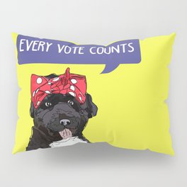 Political Pup -Every Vote Counts Pillow Sham
