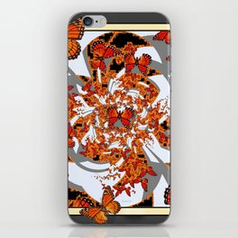 Modern Monarch Butterfly Abstract Art iPhone Skin