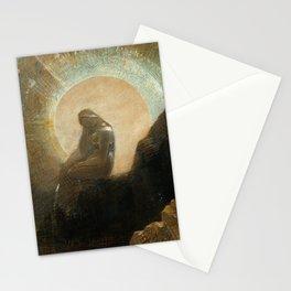Melancholy by Odilon Redon, 1876 Stationery Cards