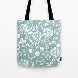 Frozen garden Tote Bag