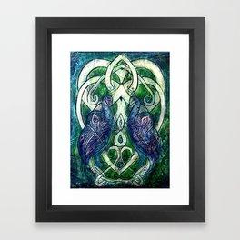 Celtic Peacocks Framed Art Print
