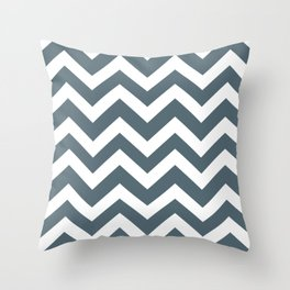 Cadet - grey color - Zigzag Chevron Pattern Throw Pillow