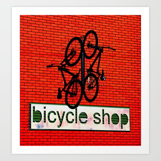 Bicycle Shop Art Print