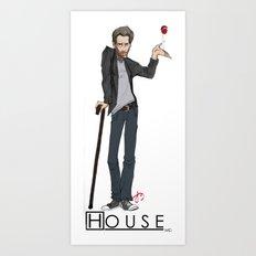 House Hugh Laurie Illustration Art Print