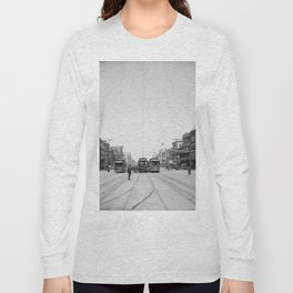 Vintage Canal Street New Orleans Streetcars 1907 Long Sleeve T-shirt