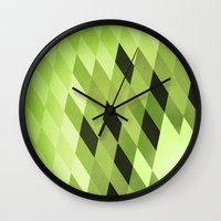 kiwi Wall Clocks featuring Kiwi by SilShapes