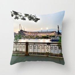 Pittsburgh Baseball Night Riverview Print Throw Pillow