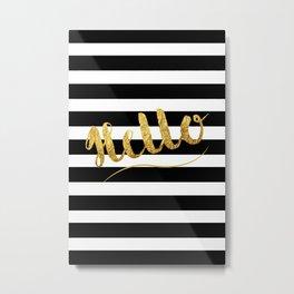 Golden Hello's Metal Print