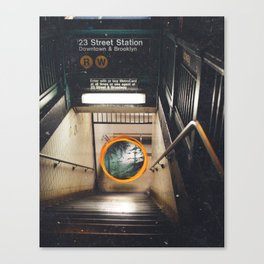 New York City Subway Portal to the Forest Canvas Print