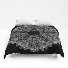 GEOMETRIC NATURE: SEA URCHIN b/w Comforters
