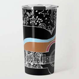 Guitar & stars Travel Mug