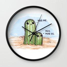 Prickly Pair Wall Clock