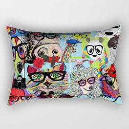 Hip Animals with Glasses . . . The Cool Kids! Rectangular Pillow