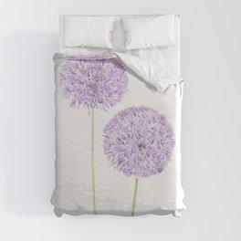 2 purple Allium watercolor  Duvet Cover