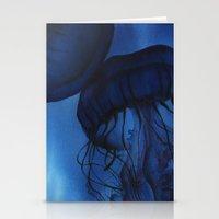 jellyfish Stationery Cards featuring Jellyfish by Dana Martin
