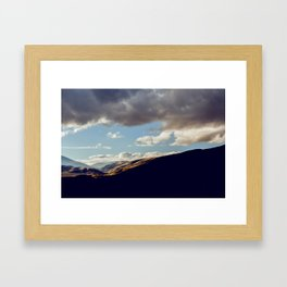 Darkness Comes To The Grapevine Framed Art Print