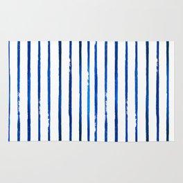 Indigo Stripes - Blue and White Rug