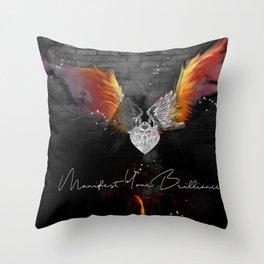 Manifest Your Brilliance Throw Pillow