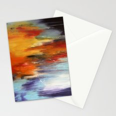 Abstract sunset over the water Stationery Cards