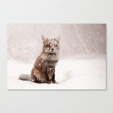 Fairytale Fox _ Red Fox in a Snow Storm Canvas Print