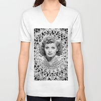 lucy V-neck T-shirts featuring lucy by RULES OF REFRACTION