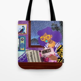Rainy Day Reading Tote Bag