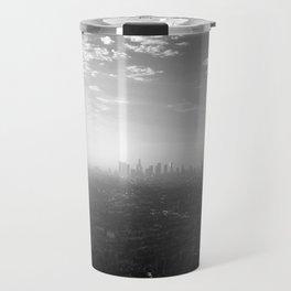 Los Angeles. L.A. Skyline. Black and White. Jodilynpaintings. Sunrise. Sunset. Cityscape. California Travel Mug